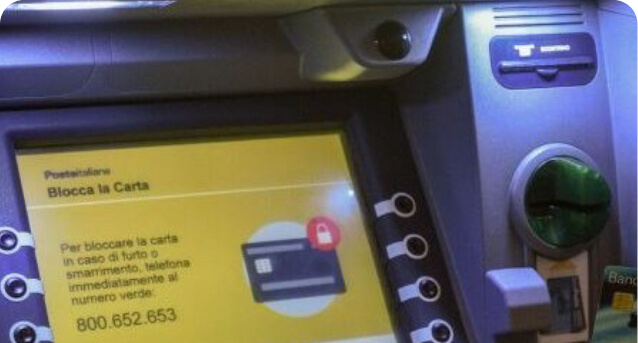 immagine prenotazione tramite ATM Postamat